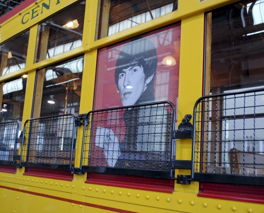 George Harrison and tea vehicle window graphics