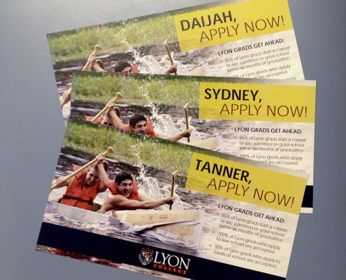 Lyon College marketing postcards
