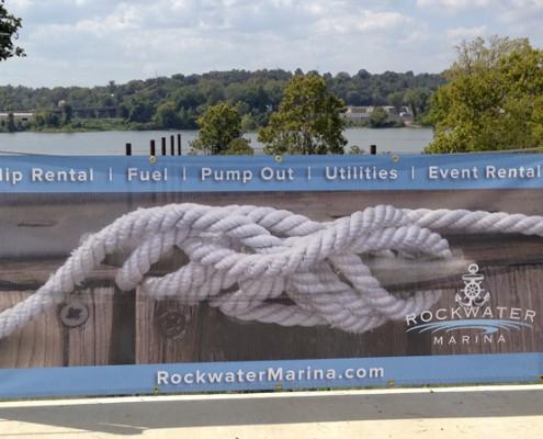 Rockwater Marina mesh banner