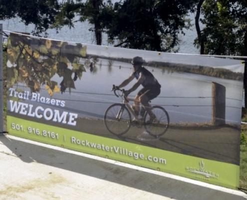 Rockwater mesh banner
