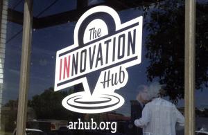 Innovation Hub window graphics