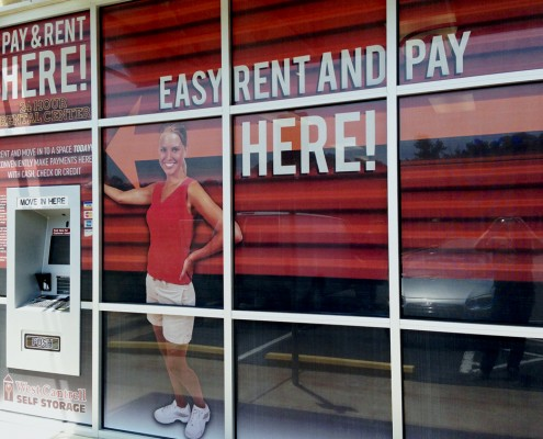 West Cantrell Storage window graphics