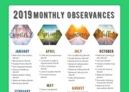 2019 observances