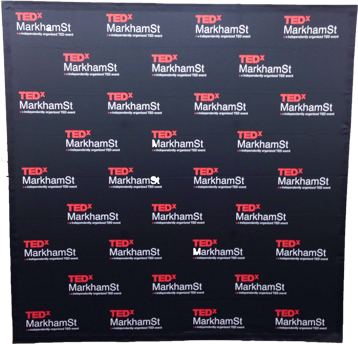 TEDx Step and Repeat sign